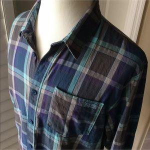Vans Plaid Button Front Shirt | XL Long Sleeve